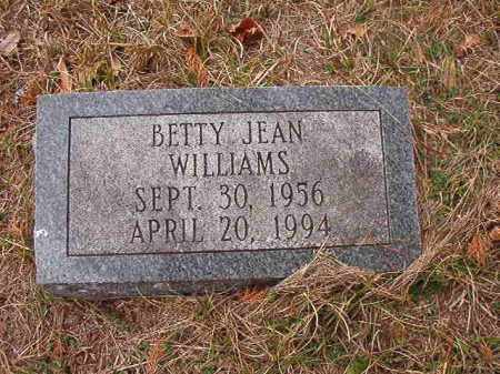 WILLIAMS, BETTY JEAN - Union County, Arkansas | BETTY JEAN WILLIAMS - Arkansas Gravestone Photos
