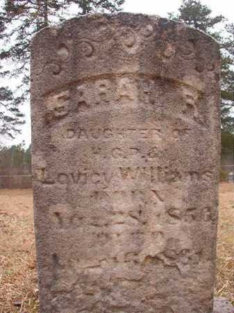 WILLIAMS, SARAH R - Union County, Arkansas | SARAH R WILLIAMS - Arkansas Gravestone Photos