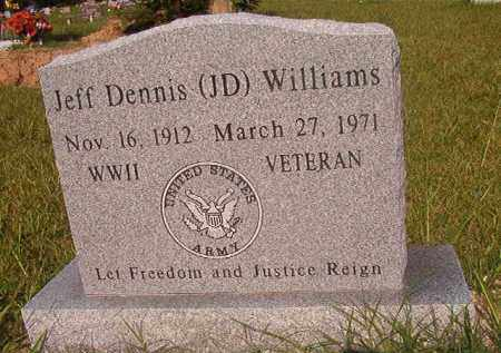 WILLIAMS (VETERAN WWII), JEFF DENNIS - Union County, Arkansas | JEFF DENNIS WILLIAMS (VETERAN WWII) - Arkansas Gravestone Photos