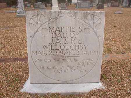 WILLOUGHBY, MATTIE S - Union County, Arkansas | MATTIE S WILLOUGHBY - Arkansas Gravestone Photos