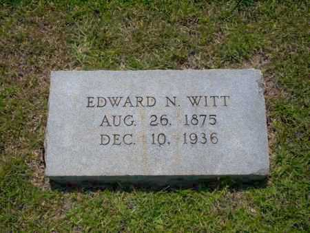 WITT, EDWARD N. - Union County, Arkansas | EDWARD N. WITT - Arkansas Gravestone Photos