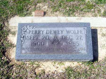 WOLFE, PERRY DEWEY - Union County, Arkansas | PERRY DEWEY WOLFE - Arkansas Gravestone Photos