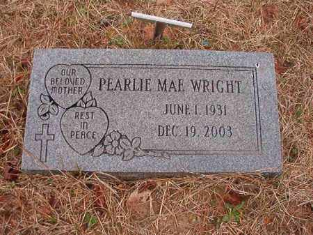 WRIGHT, PEARLIE MAE - Union County, Arkansas | PEARLIE MAE WRIGHT - Arkansas Gravestone Photos