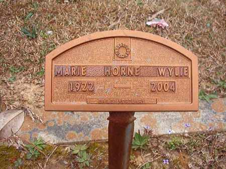 HORNE WYLIE, MARIE - Union County, Arkansas | MARIE HORNE WYLIE - Arkansas Gravestone Photos