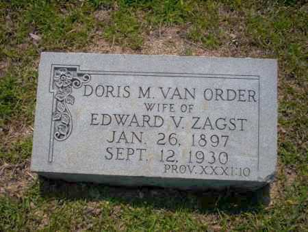 VAN ORDER ZAGST, DORIS M. - Union County, Arkansas | DORIS M. VAN ORDER ZAGST - Arkansas Gravestone Photos