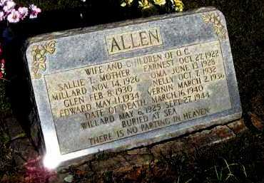 ALLEN, NELLY - Van Buren County, Arkansas | NELLY ALLEN - Arkansas Gravestone Photos