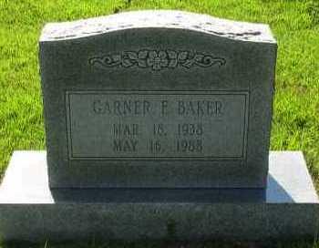 BAKER, GARNER F - Van Buren County, Arkansas | GARNER F BAKER - Arkansas Gravestone Photos