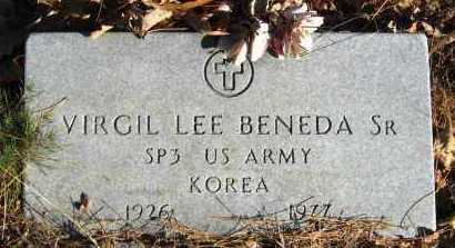 BENEDA, SR (VETERAN KOR), VIRGIL LEE - Van Buren County, Arkansas | VIRGIL LEE BENEDA, SR (VETERAN KOR) - Arkansas Gravestone Photos