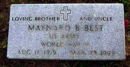 BEST  (VETERAN WWII), MAYNARD B. - Van Buren County, Arkansas | MAYNARD B. BEST  (VETERAN WWII) - Arkansas Gravestone Photos