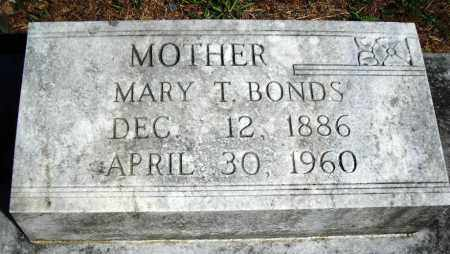 BONDS, MARY T. - Van Buren County, Arkansas | MARY T. BONDS - Arkansas Gravestone Photos