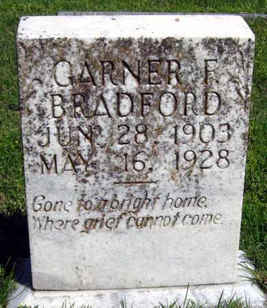 BRADFORD, GARNER F - Van Buren County, Arkansas | GARNER F BRADFORD - Arkansas Gravestone Photos