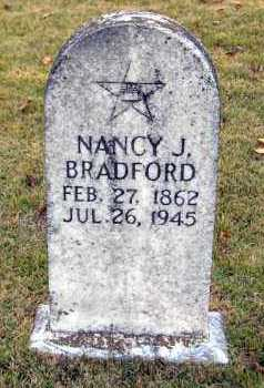 BRADFORD, NANCY JANE - Van Buren County, Arkansas | NANCY JANE BRADFORD - Arkansas Gravestone Photos