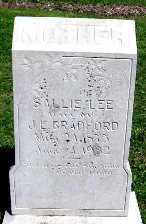BRADFORD, SALLIE LEE - Van Buren County, Arkansas | SALLIE LEE BRADFORD - Arkansas Gravestone Photos