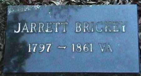 BRICKEY, JARRETT - Van Buren County, Arkansas | JARRETT BRICKEY - Arkansas Gravestone Photos