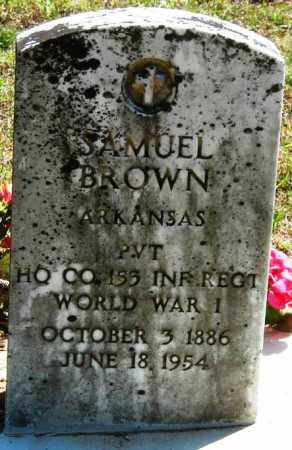 BROWN  (VETERAN WWI), SAMUEL - Van Buren County, Arkansas | SAMUEL BROWN  (VETERAN WWI) - Arkansas Gravestone Photos