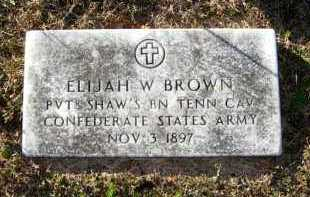 BROWN (VETERAN CSA), ELIJAH W - Van Buren County, Arkansas | ELIJAH W BROWN (VETERAN CSA) - Arkansas Gravestone Photos