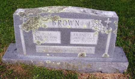BROWN, FRANCIS E - Van Buren County, Arkansas | FRANCIS E BROWN - Arkansas Gravestone Photos