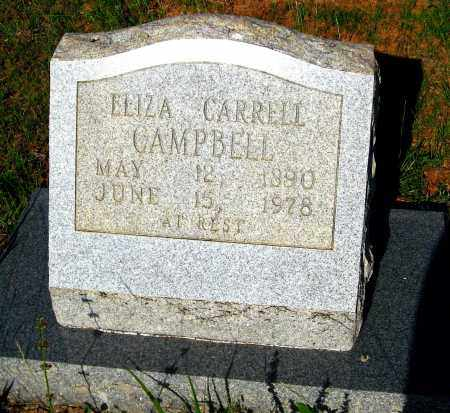 CARRELL CAMPBELL, ELIZA - Van Buren County, Arkansas | ELIZA CARRELL CAMPBELL - Arkansas Gravestone Photos