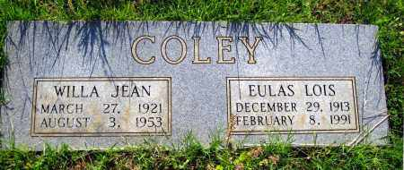 COLEY, WILLA JEAN - Van Buren County, Arkansas | WILLA JEAN COLEY - Arkansas Gravestone Photos