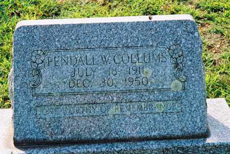 COLLUMS, PENDALL W - Van Buren County, Arkansas | PENDALL W COLLUMS - Arkansas Gravestone Photos