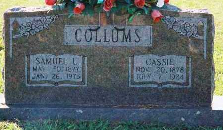 COLLUMS, SAMUEL LAFAYETTE - Van Buren County, Arkansas | SAMUEL LAFAYETTE COLLUMS - Arkansas Gravestone Photos
