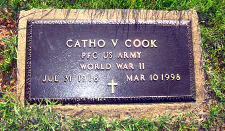 COOK  (VETERAN WWII), CATHO V - Van Buren County, Arkansas | CATHO V COOK  (VETERAN WWII) - Arkansas Gravestone Photos