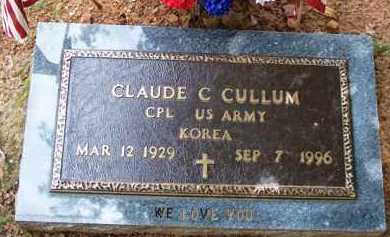 CULLUM (VETERAN KOR), CLAUDE C - Van Buren County, Arkansas | CLAUDE C CULLUM (VETERAN KOR) - Arkansas Gravestone Photos