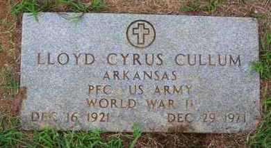 CULLUM (VETERAN WWII), LLOYD CYRUS - Van Buren County, Arkansas | LLOYD CYRUS CULLUM (VETERAN WWII) - Arkansas Gravestone Photos