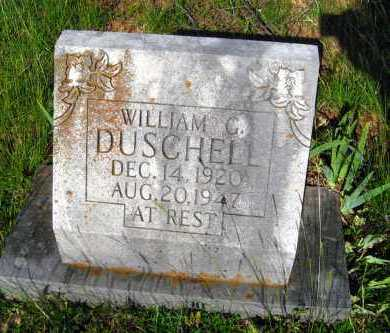 DUSCHELL, WILLIAM G - Van Buren County, Arkansas | WILLIAM G DUSCHELL - Arkansas Gravestone Photos