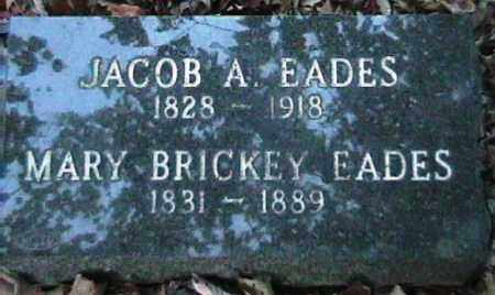 BRICKEY EADES, MARY - Van Buren County, Arkansas | MARY BRICKEY EADES - Arkansas Gravestone Photos