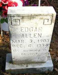 ALLEN, EDGAR - Van Buren County, Arkansas | EDGAR ALLEN - Arkansas Gravestone Photos