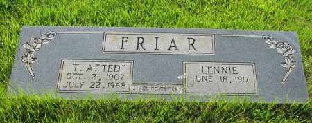 "FRIAR, T A  ""TED"" - Van Buren County, Arkansas 