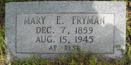 FRYMAN, MARY EDDIE - Van Buren County, Arkansas | MARY EDDIE FRYMAN - Arkansas Gravestone Photos