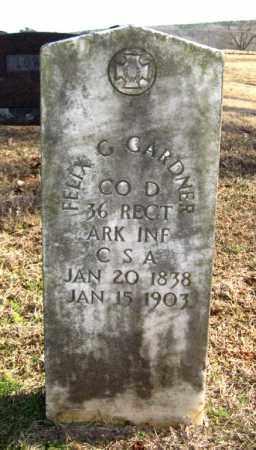 GARDNER (VETERAN CSA), FELIX G. - Van Buren County, Arkansas | FELIX G. GARDNER (VETERAN CSA) - Arkansas Gravestone Photos