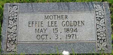 GOLDEN, EFFIE LEE - Van Buren County, Arkansas | EFFIE LEE GOLDEN - Arkansas Gravestone Photos