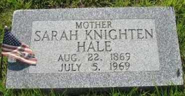 HALE, SARAH KNIGHTEN - Van Buren County, Arkansas | SARAH KNIGHTEN HALE - Arkansas Gravestone Photos