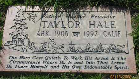 HALE, TAYLOR - Van Buren County, Arkansas | TAYLOR HALE - Arkansas Gravestone Photos