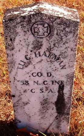 HARMON  (VETERAN CSA), ELI G - Van Buren County, Arkansas | ELI G HARMON  (VETERAN CSA) - Arkansas Gravestone Photos