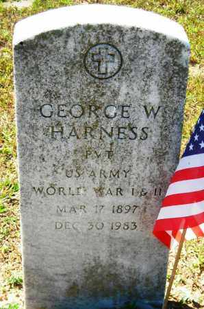 HARNESS (VETERAN 2 WARS), GEORGE W - Van Buren County, Arkansas | GEORGE W HARNESS (VETERAN 2 WARS) - Arkansas Gravestone Photos
