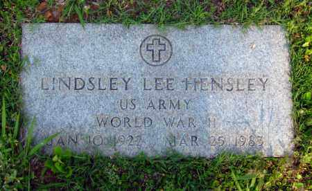HENSLEY  (VETERAN WWII), LINDSLEY LEE - Van Buren County, Arkansas | LINDSLEY LEE HENSLEY  (VETERAN WWII) - Arkansas Gravestone Photos