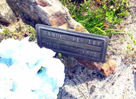 HENSLEY, SAMUEL - Van Buren County, Arkansas   SAMUEL HENSLEY - Arkansas Gravestone Photos