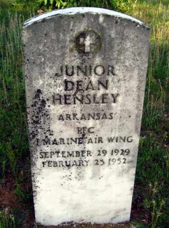 HENSLEY (VETERAN), JUNIOR DEAN - Van Buren County, Arkansas | JUNIOR DEAN HENSLEY (VETERAN) - Arkansas Gravestone Photos