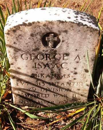 ISAAC  (VETERAN WWII), GEORGE A - Van Buren County, Arkansas | GEORGE A ISAAC  (VETERAN WWII) - Arkansas Gravestone Photos
