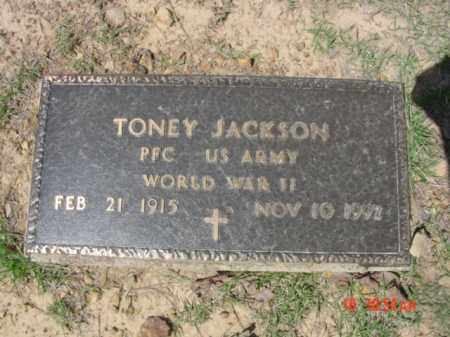 JACKSON (VETERAN WWII), TONEY - Van Buren County, Arkansas | TONEY JACKSON (VETERAN WWII) - Arkansas Gravestone Photos