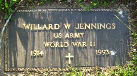 JENNINGS  (VETERAN WWII), WILLARD W - Van Buren County, Arkansas | WILLARD W JENNINGS  (VETERAN WWII) - Arkansas Gravestone Photos