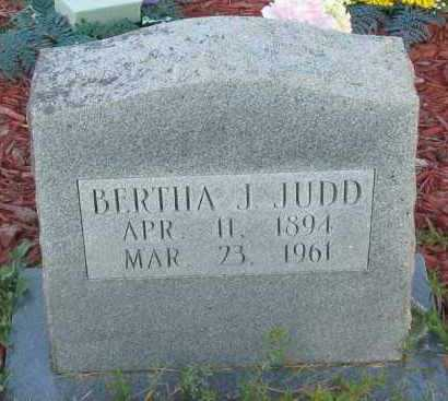 JUDD, BERTHA J - Van Buren County, Arkansas | BERTHA J JUDD - Arkansas Gravestone Photos