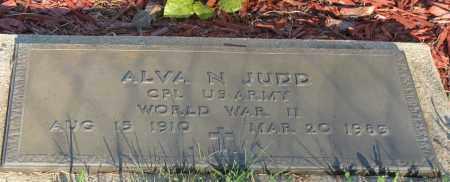 JUDD  (VETERAN WWII), ALVA N - Van Buren County, Arkansas | ALVA N JUDD  (VETERAN WWII) - Arkansas Gravestone Photos