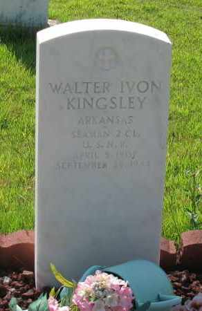 KINGSLEY (VETERAN), WALTER IVON - Van Buren County, Arkansas | WALTER IVON KINGSLEY (VETERAN) - Arkansas Gravestone Photos