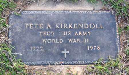 KIRKENDOLL  (VETERAN WWII), PETE A - Van Buren County, Arkansas | PETE A KIRKENDOLL  (VETERAN WWII) - Arkansas Gravestone Photos