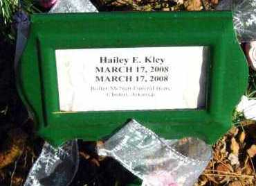 KLEY, HAILEY E - Van Buren County, Arkansas | HAILEY E KLEY - Arkansas Gravestone Photos